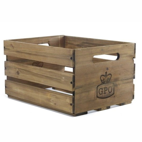 Charmant GPO Cassa Wooden Vinyl Record LP Storage Crate