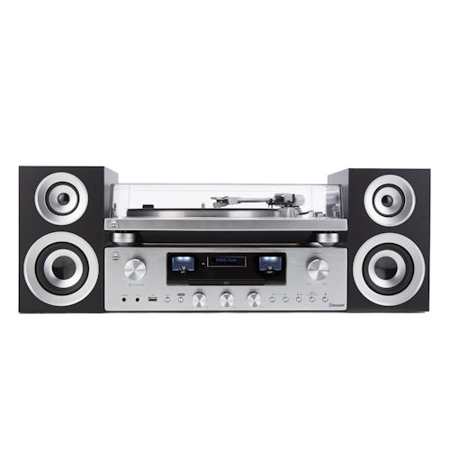 GPO Premium Series Record Player With Amp And Speakers Set PR100 PR200