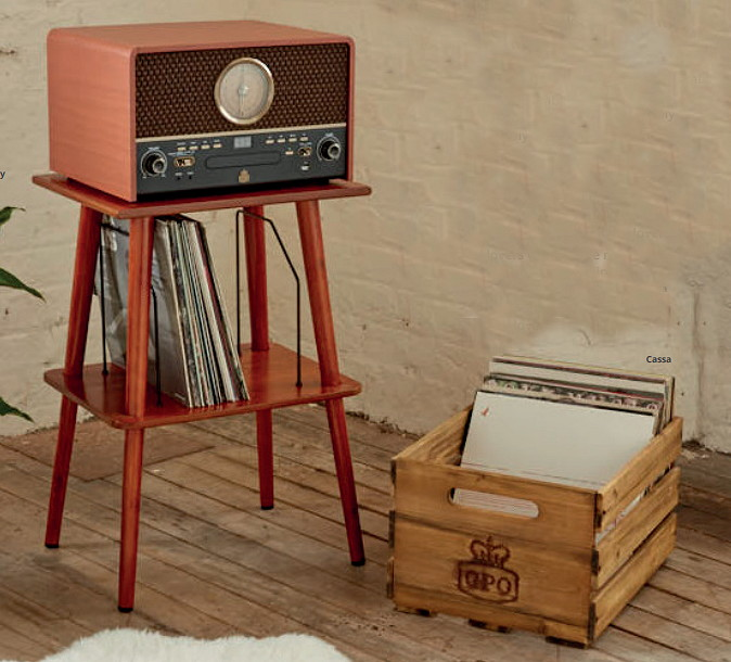 Buy Gpo Canterbury Wooden Record Player Stand Table